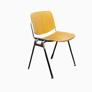 Vintage German Plywood & Steel DSC Axis 106 Side Chair by Giancarlo Piretti for Castelli