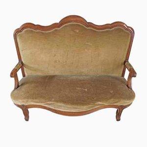 Antikes Sofa mit Gestell aus Kirschholz im Stil von Louis Philippe