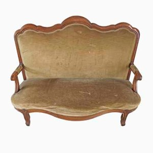 Antique Louis Philippe Style Cherry Sofa