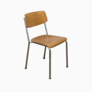 Mid-Century Plywood & Steel Stacking Chairs by Gustav Hassenpflug for Embru, Set of 6