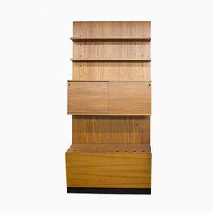 Mueble de pared alemán Mid-Century de teca y madera de Günter Renkel para Reno Möbel