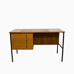 Mid-Century German Metal and Teak Desk by Günter Renkel for Rego Möbel