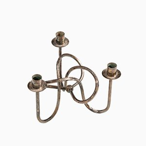 Brass Candleholder by Josef Frank for Svenskt Tenn, 1930s