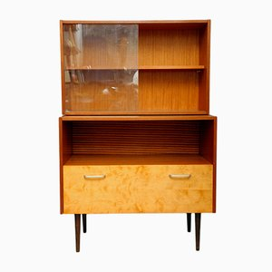 Modernist Glass and Plywood Dresser, 1960s