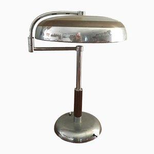 Lampada da tavolo Mid-Century in metallo cromato, Italia, anni '40