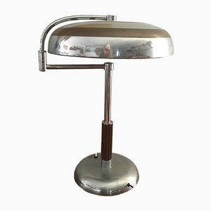 Lampe de Bureau Mid-Century en Plaqué Chrome, Italie, 1940s