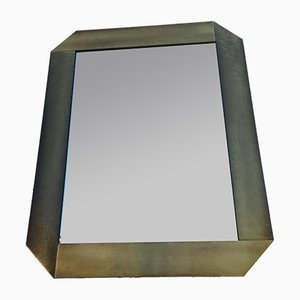 Vintage Modernist Italian Mirror, 1970s
