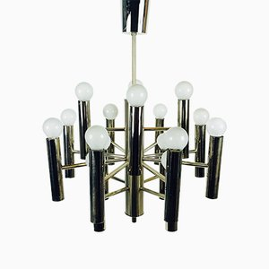 Mid-Century Chrome Chandelier by Gaetano Sciolari, 1960s