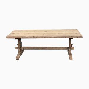 Mesa de cocina Farmous francesa antigua de roble