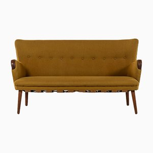 Scandinavian Modern Danish Oak Sofa by Kurt Olsen, 1950s