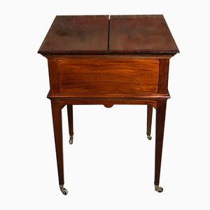 English Mahogany Bar Table from Mapple & Co, 1940s