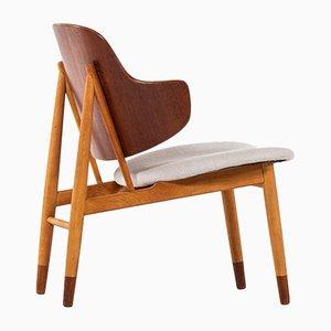 Moderner dänischer Shell Stuhl aus Buche von Ib Kofod-Larsen, 1950er