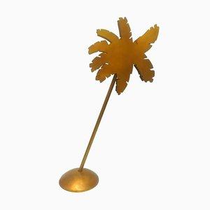 Lampada da terra Caribe a forma di palma in bronzo e ottone di Ettore Sottsass per Targetti, anni '70