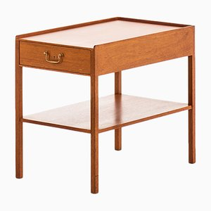 Brass and Mahogany Side Table by Josef Frank for Svenskt Tenn, 1950s