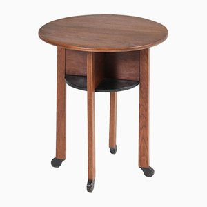Art Deco Oak Side Table by Willem Penaat for Metz & Co., 1920s
