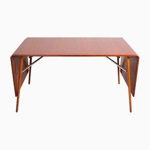 Danish Steel and Teak Dining Table by Børge Mogensen for Søborg Møbelfabrik, 1953