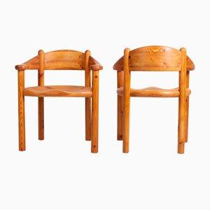 Sillas de comedor danesas de pino de Rainer Daumiller para Hirtshals Savvaerk, años 70. Juego de 10