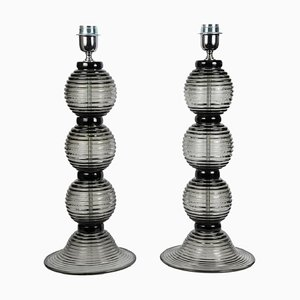 Vintage Italian Murano Glass Table Lamps from Barovier & Toso, 1990s, Set of 2