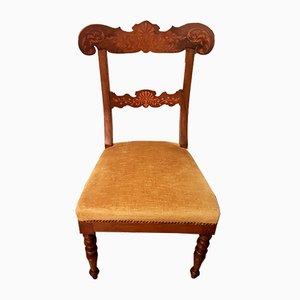 Chaise de Bureau Antique en Noyer, Italie
