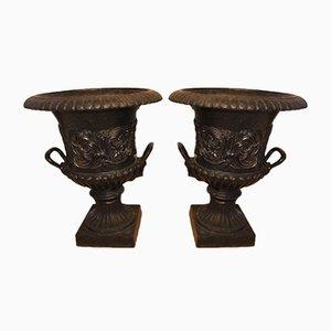 Antique Vase Planters, Set of 2