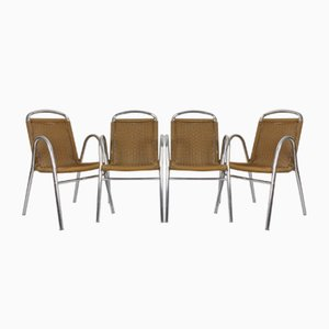 Chrome & Plastic Dining Chairs, 1970s, Set of 4