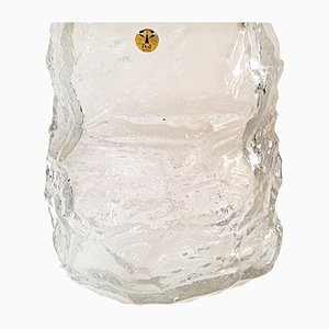 Jarrón alemán vintage de cristal de hielo de Peill & Putzler, años 70