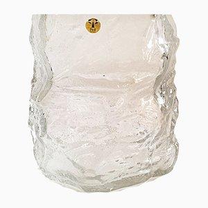 Vintage German Ice Glass Vase from Peill & Putzler, 1970s
