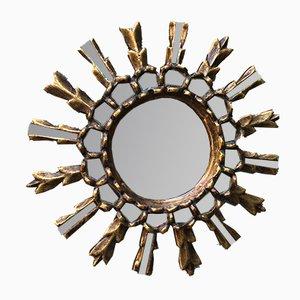 Antique Golden Sun Mirror