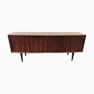 Rosewood Bow Front Sideboard by Arne Vodder, 1960s