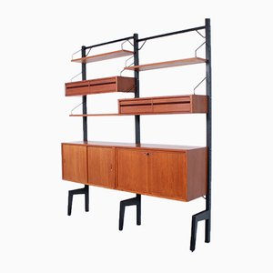 Freistehendes modulares Royal System Regalsystem von Poul Cadovius für Cado, 1950er