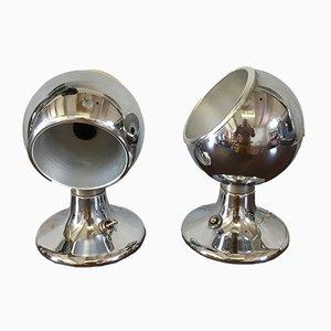 Italienische Space Age Tischlampen, 1960er, 2er Set