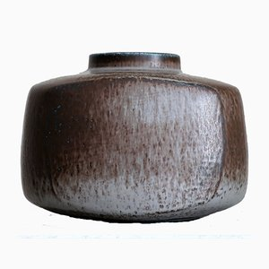 Large Scandinavian Modern Stoneware Vase by Eva Staehr-Nielsen for SAXBO, 1950s
