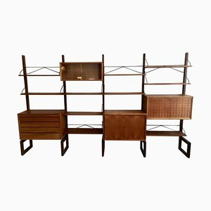 Freestanding Teak Wall Unit by Poul Cadovius for Cado, 1960s