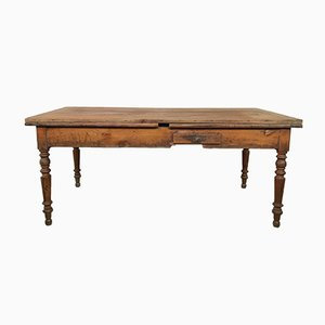 Large Antique French Extendable Farmhouse Table