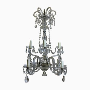 Antique French Cut Glass Chandelier, 1900s