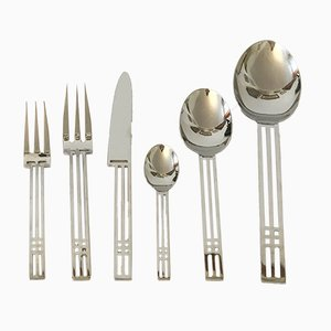 Vintage Steel Cutlery Set by Bob Patino & Vincente Wolf for Berndorf, 1991