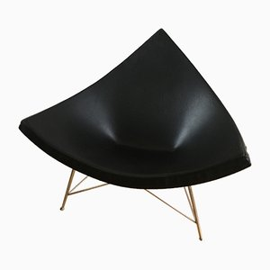 Black Leather Coconut Lounge Chair by George Nelson for Vitra, 1989