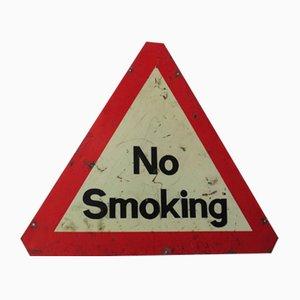 Señal de prohibido fumar inglesa industrial, años 60