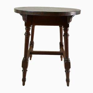 Tavolino vintage in ottone e quercia, Italia, anni '20
