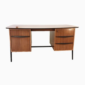Walnut Desk by Alfred Hendrickx for Belform, 1950s
