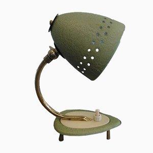 Deutsche Mid-Century Nachttischlampen mit Gestell aus Messing, 1950er, 2er Set