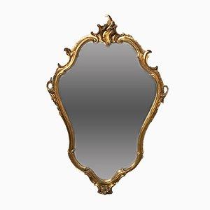 Espejo italiano estilo Luis XV vintage dorado