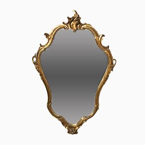 Vintage Louis XV Style Italian Gilded Mirror