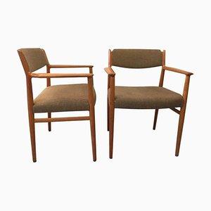 Beistellstühle aus Teak von Arne Vodder, 1960er