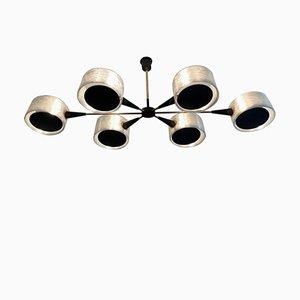 Lámpara de techo de 6 brazos, años 50
