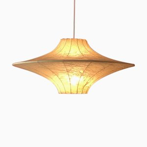 Vintage Cocoon Flying Saucer Pendant Lamp by Castiglioni Brothers, 1960s