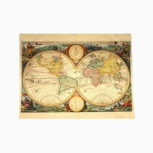 Antique Dutch World Map by by N. Visscher, 1677