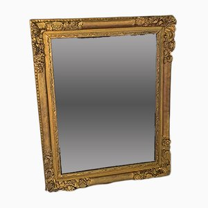 Antique French Beveled Mirror