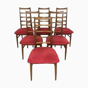 Vintage Stühle aus Teak von Niels Koefoed für Koefoeds Hornslet, 6er Set