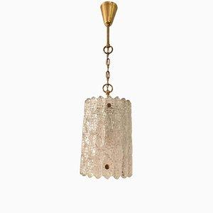Lámpara colgante de cristal de Carl Fagerlund para Orrefors, años 60